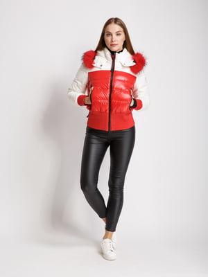 Куртка червоно-біла | 5539792