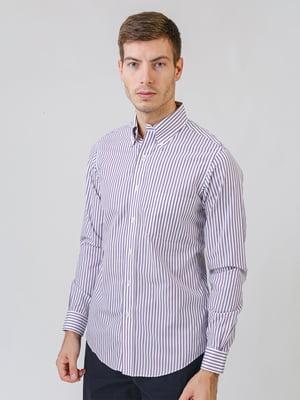 Рубашка белая в полоску | 5538240