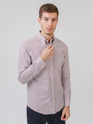 Рубашка белая в полоску | 5538241