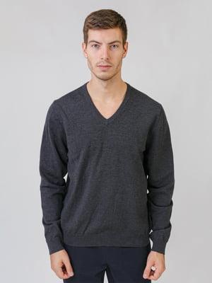 Пуловер темно-серый | 5538289