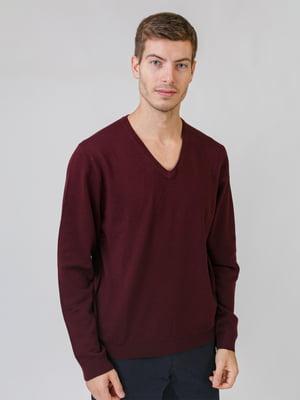 Пуловер бордовый | 5538285
