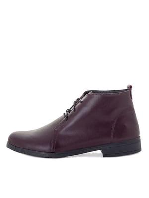 Ботинки бордовые | 5539810