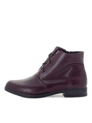 Ботинки бордовые | 5539811