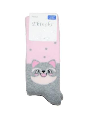 Шкарпетки рожеві з принтом | 5539844