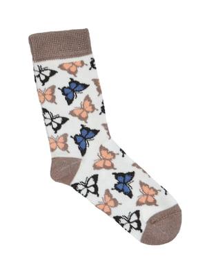 Носки разноцветные с принтом | 5539846