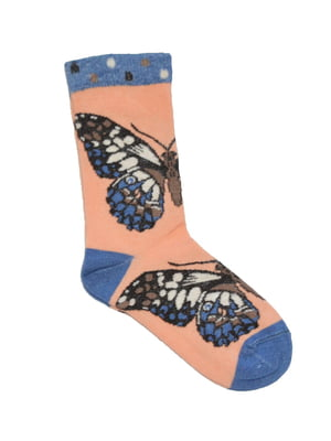 Носки разноцветные с принтом | 5539848