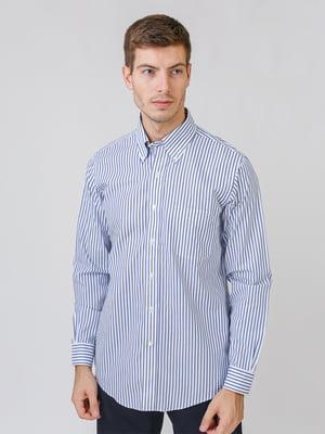 Рубашка белая в полоску | 5538237