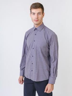 Сорочка баклажанового кольору в смужку | 5515747