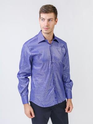 Рубашка фиолетовая в принт   5515763
