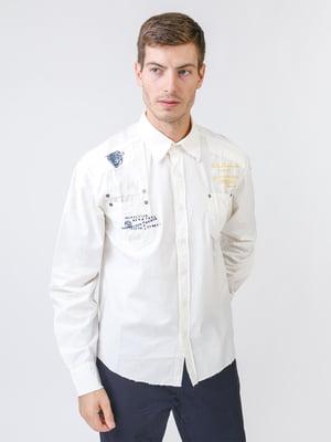 Рубашка молочного цвета с надписью   5515775