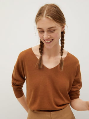 Пуловер гірчичного кольору | 5540105