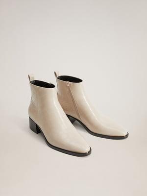 Ботинки молочного цвета | 5540149