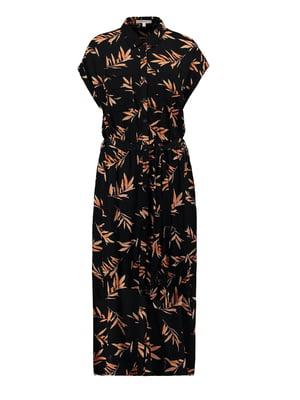 Сукня чорна у принт | 5540972
