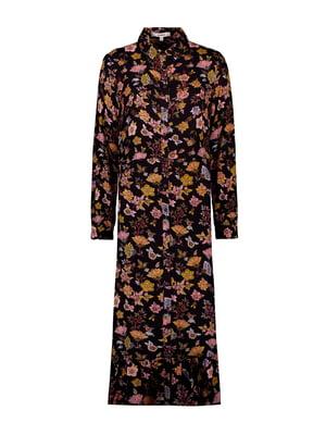 Сукня чорна у принт | 5540992