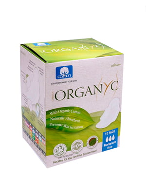 Прокладки органические Corman Organyc с крылышками для умеренных выделений - 3 капли | 5540420