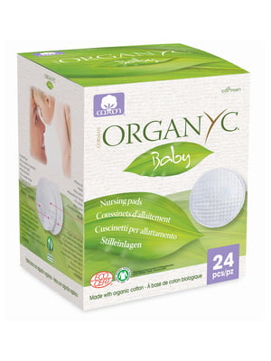Вкладыши для груди впитывающие из органического хлопка Corman (24 шт.) | 5540435