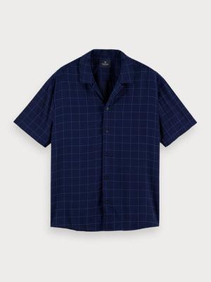 Рубашка синяя в клетку | 5529261