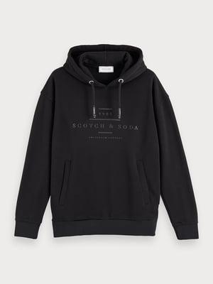 Свитшот черный с логотипом | 5529269