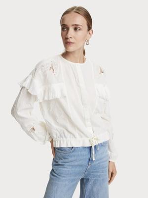 Блуза белая с узором | 5529337