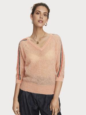 Пуловер бежевий в смужку   5529371