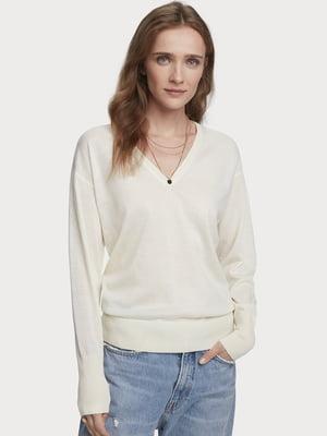 Пуловер молочного кольору | 5529392