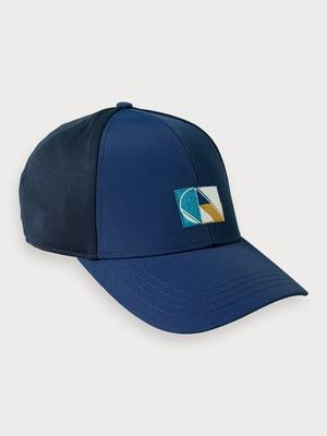 Бейсболка синя з логотипом | 5529405