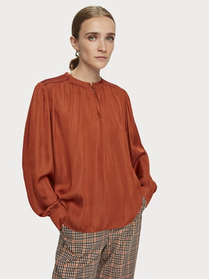Блуза теракотового кольору | 5529417