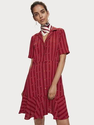 Сукня червоного кольору з візерунком | 5529430