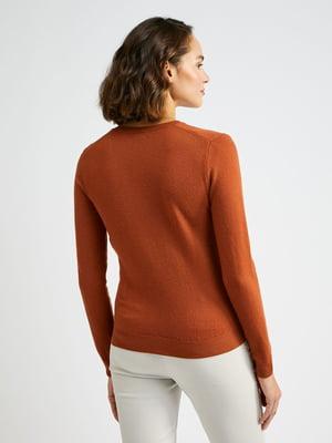 Пуловер терракотовый | 5520735