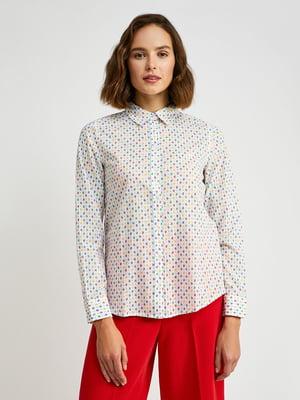 Рубашка белая с принтом | 5520925