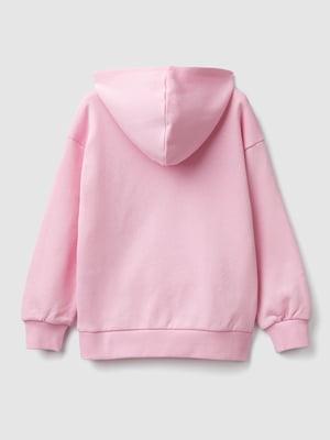 Худі рожева з принтом | 5540630