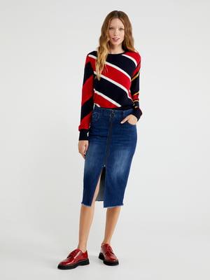 Юбка синяя джинсовая | 5540919