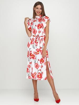 Сукня біла в квітковий принт | 5542350