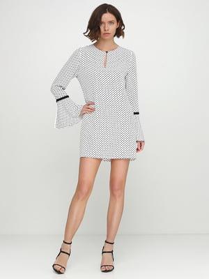 Сукня біла в горошок | 5542359