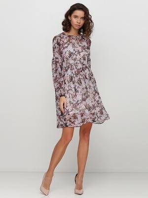 Сукня бежева в квітковий принт | 5542361