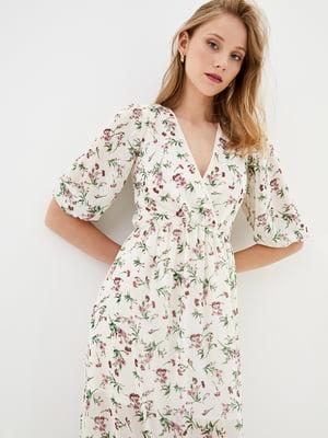Сукня бежева в квітковий принт | 5542375