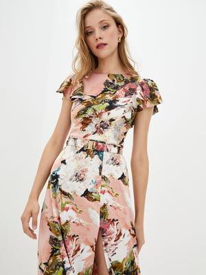 Сукня бежева в квітковий принт | 5542378
