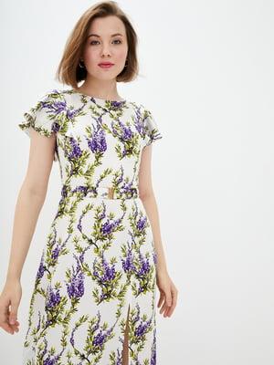 Сукня бежева в квітковий принт | 5542379