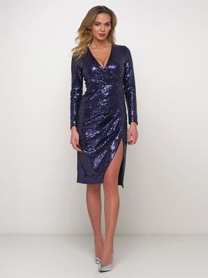 Сукня синя з блискітками | 5542396