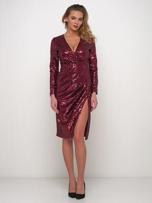 Сукня бордова з блискітками | 5542398