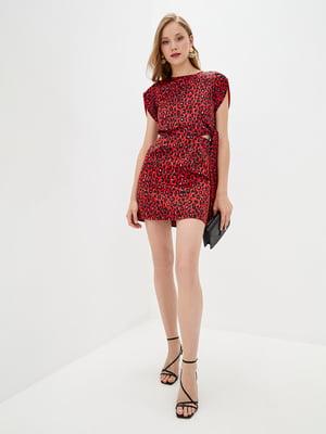 Сукня червона у анімалістичний принт | 5542473