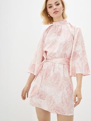 Сукня рожева у принт | 5542463