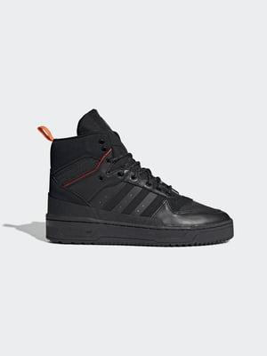 Черевики чорні спортивні з логотипом | 5539606