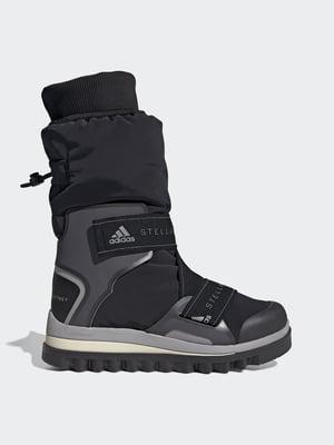 Сапоги-кроссовки черно-серые с логотипом | 5542501