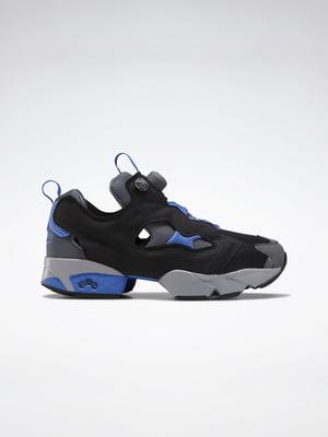 Кросівки чорно-сині з логотипом | 5542507