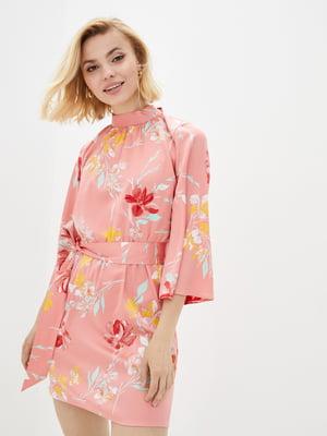 Сукня рожева у квітковий принт | 5542461