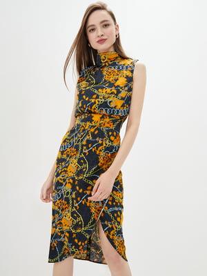 Сукня в комбінований принт | 5542466