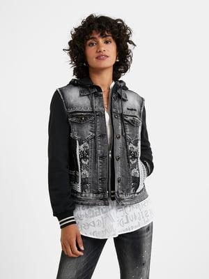 Куртка сіро-чорна | 5535891