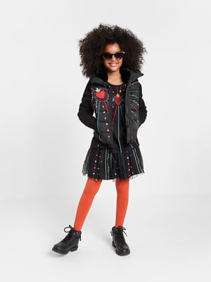 Куртка чорна з малюнком | 5540221