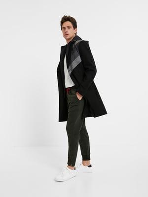 Пальто чорно-сіре в смужку | 5540241